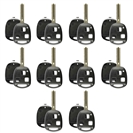 Lot of 10 New Key Case Shell Keyless Entry Remote Fob Blade Fix Repair Master for Lexus