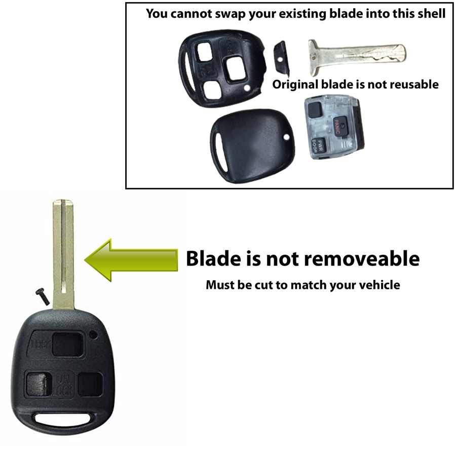 Lexus Key Fob Replacement >> Case Shell for Lexus Keyless Entry Remote Key Fob