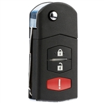 New Keyless Entry Remote Flip Key Fob for Mazda (SKE12501, BGBX1T478)