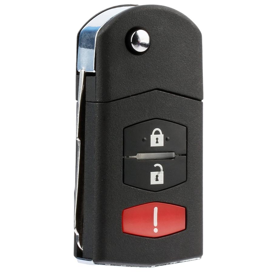 New Keyless Entry Remote Flip Key Fob for Mazda (SKE12501)