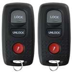 2 New Keyless Entry Remote Key Fob for 2004-2006 Mazda 3 & 2003-2005 Mazda 6 (KPU41846)