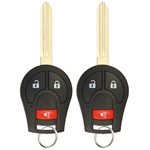 2 New Keyless Entry Remote Key Fob for Nissan (CWTWB1U751)