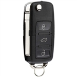 New Keyless Entry Remote Flip Key Fob for Volkswagen Beetle Golf Jetta Passat (HLO1J0959753AM, HLO1J0959753DC)
