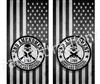 2nd Ammendment Homeland Security Cornhole Cover Wrap