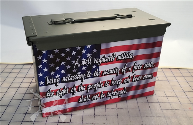 2nd Ammendment American Flag Ammo Can Wrap pair