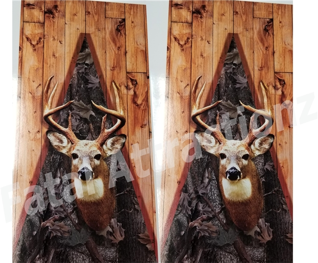 Ambush Camo Boards Deer Head Cornhole Cover Wrap