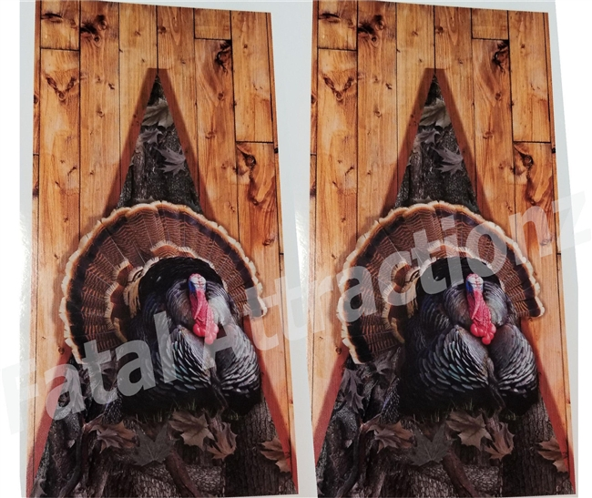 Ambush Camo Boards Turkey Cornhole Cover Wrap