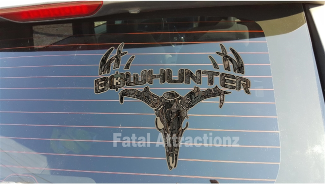 Ambush Camo Bowhunter Deer Skull S4