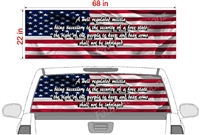 "American Flag 2nd Ammendment See Thru Window Wrap 22""x68"""