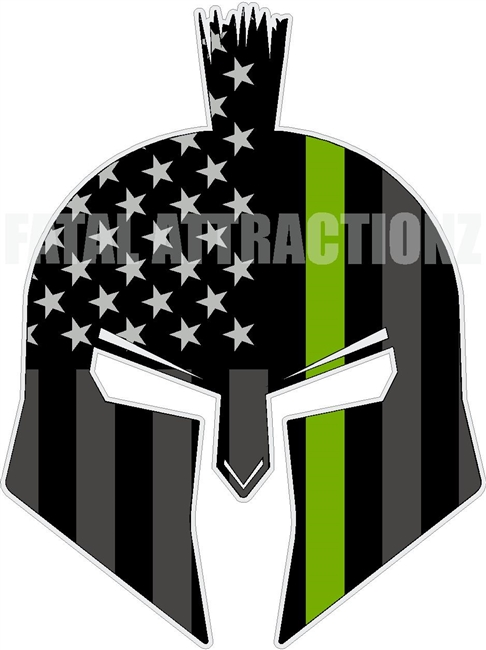 American Flag Green Line Spartan Trojan Wild Life Conservation