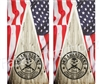 American Flag Homeland Security Cornhole Cover Wrap