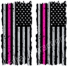 American Flag Hot Pink Line Cornhole Cover