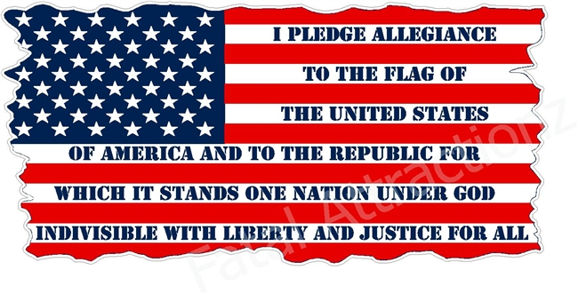 American Flag Pledge of Allegiance
