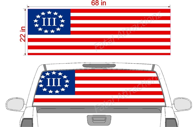 "Betsy Ross III% Flag See Thru Window Wrap 22""x68"""