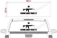 "COME AND TAKE IT Flag See Thru Window Wrap 22""x68"""