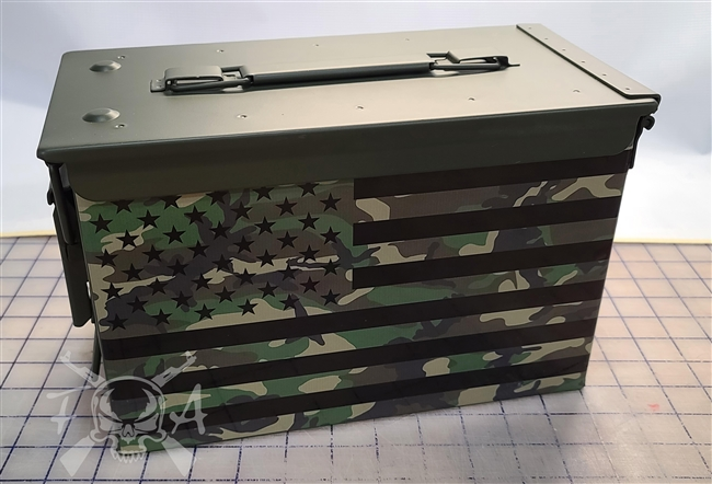 Camo American Flag Ammo Can Wrap pair