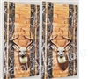 Camo Wood Boards Deer Cornhole Cover Wrap