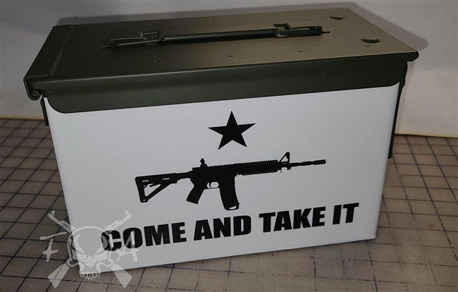 Come and Take it Flag Ammo Can Wrap pair