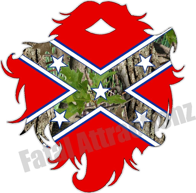 Confederate Camo Flag Beard