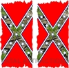 Confederate Camo Flag Cornhole Cover