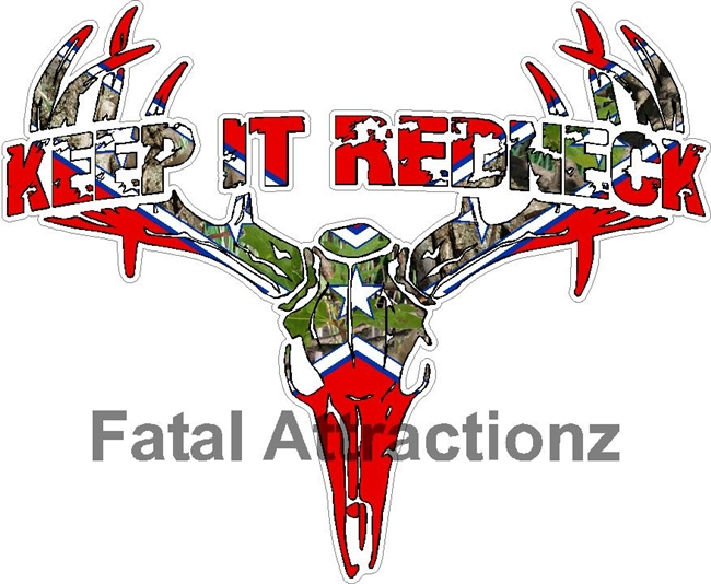 Confederate Camo Keep it Redneck Deer Skull S4