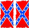 Confederate Flag Flat Cornhole Cover
