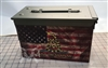 Distressed American Gadsden Flag Ammo Can Box Wrap pair