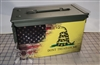 Distressed American Gadsden Flag v2 Ammo Can Box Wrap pair