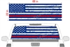 "Distressed American Flag Dress Blues See Thru Window Wrap 22""x68"""