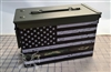 Distressed Camo Line American Flag Ammo Can Box Wrap pair