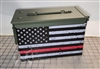 Distressed Red American Flag Ammo Can Box Wrap pair