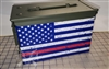 Distressed Dress Blues American Flag Ammo Can Box Wrap pair