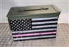 Distressed Pink American Flag Ammo Can Box Wrap pair