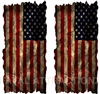 Distressed American Flag Cornhole Cover