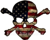 Distressed American Flag Skull Crossbones