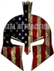 Distressed American Flag Spartan Trojan