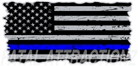 Distressed American Flag Thin Blue Line
