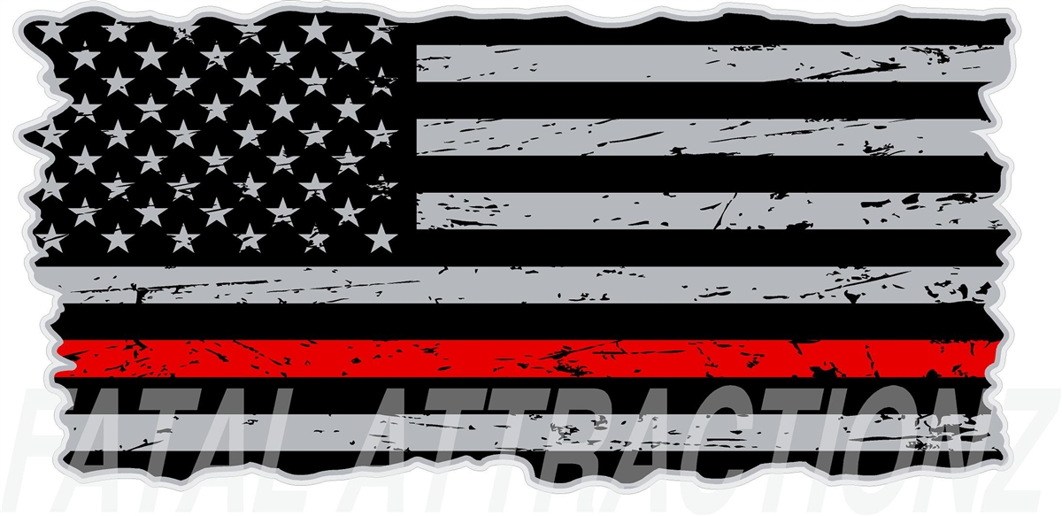 Red Line American Flag >> Distressed American Flag Thin Red Line