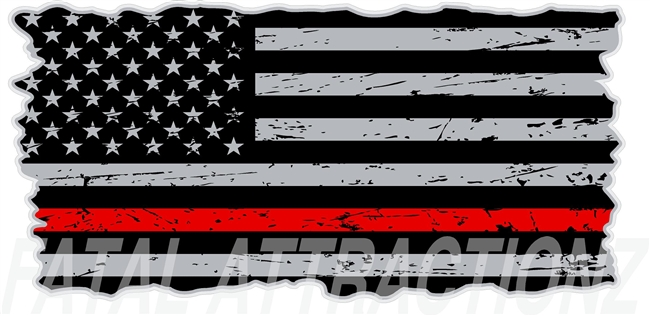 Distressed American Flag Thin Red Line