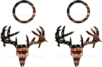 Distressed American Flag Zombie Deer Skull Cornhole Pack