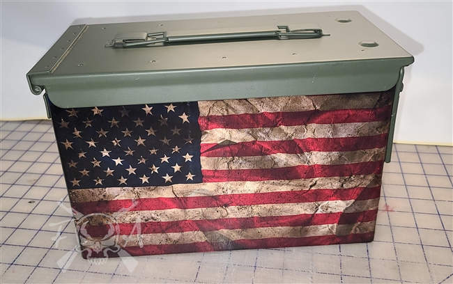 Distressed American Flag Ammo Can Box Wrap pair
