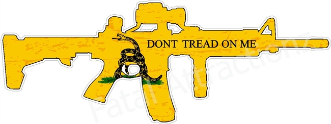Distressed Gadsden Flag AR-15