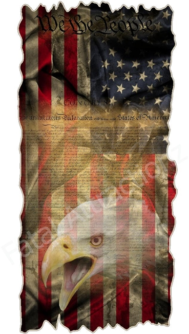 Distressed We The People American Flag