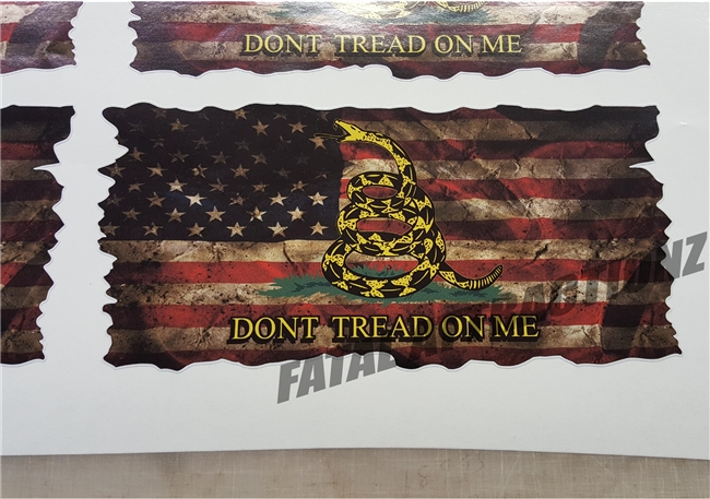 Distressed American Gadsden Flag