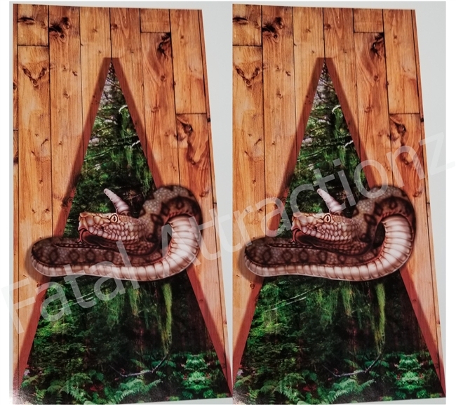 Forest Camo Boards Snake Cornhole Cover Wrap