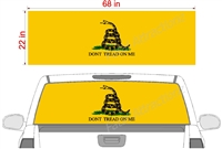 "Gadsden Flag See Thru Window Wrap 22""x68"""