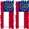 Georgia Flag Cornhole Cover