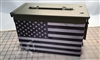 Gray Black American Flag Ammo Can Wrap pair