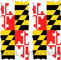 Maryland Flag Cornhole Cover