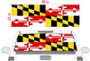 "Maryland Flag See Thru Window Wrap 22""x68"""